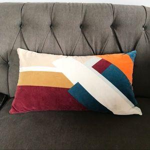 Mid Century Color Block Throw Pillow